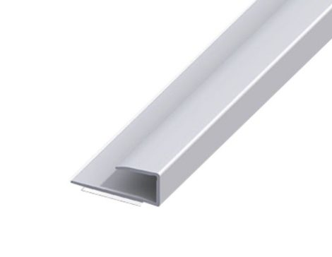 AV Laminált lap indító profil ezüst takaróprofil 9x2700 mm eloxált alumínium szegély záróprofil szél