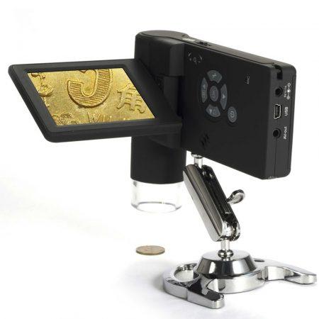 Kamera forma mikroszkóp 500x nagyítás. LCD kijelzővel 8 Led segédfény, tölthető akkumulátor