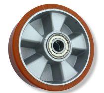 Ø 125 mm kerék raklapmozgató, raklapemelő uretan átmérő 125 mm alumínium ház poliuretán, csapággyal