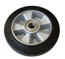 kerék raklapmozgató, raklapemelő számára. Alumínium felni gumi futófelület Ø 160 mm
