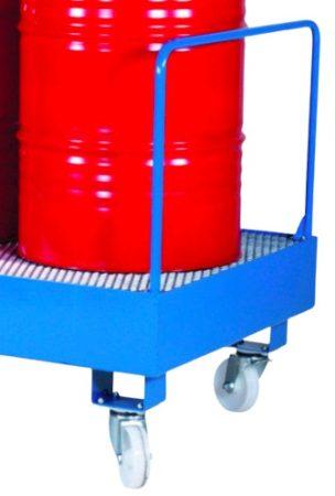 Kerék készlet hordótartó és hordó tároló állványhoz opciósan fékkel