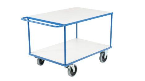 Szállítókocsi, húzható kézikocsi 500 kg teherbírás, 1000x700 mm rakfelület fékezhető kerekek