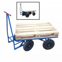 XXL raklap szállító kiskocsi professzionális platformos kocsi 500 kg teherbírású szállító kocsi 120x80 cm raklapos kocsi