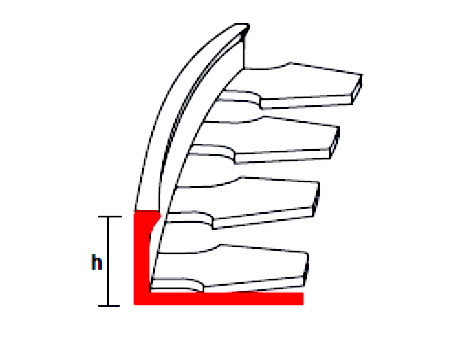 Kőszőnyeg flexibilis végzáró hajlítható alumínium profil élvédő szegély betonbevonat 2,5 m