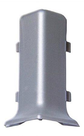 Pezsgő színű padlószegély külső sarok a Pezsgő eloxált szálcsiszolt alumínium ragasztható szegélyhez