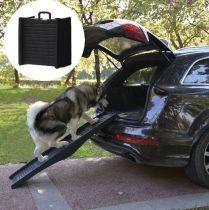 Kutyarámpa fekete műanyag összecsukható 152x43cm-es