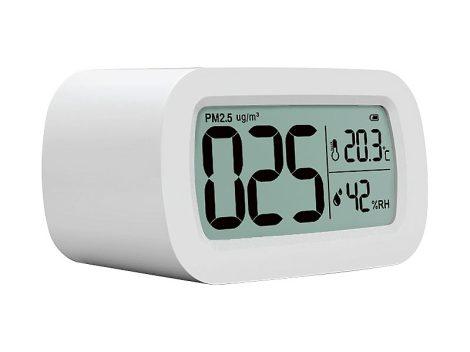 Beltéri levegőminőség mérő készülék PM2,5 finom pormérő készülék hőmérséklet és páratartalom kijelző
