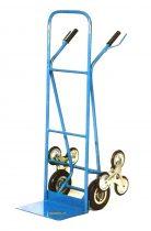 molnárkocsi lépcsőre 1+3 kerekű kézikocsi 80 kg teherbírás.  A rakodó felület mérete 27x40 cm