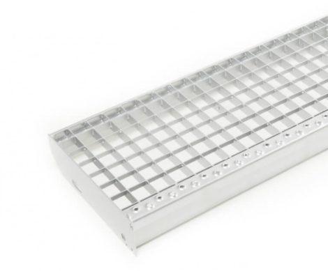 Horganyzott lépcsőrács 100x30 cm acél lépcsőfok