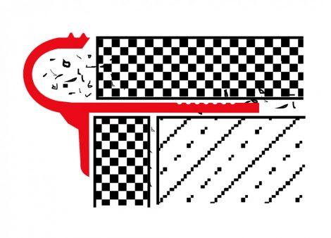 Lépcsőszegély lekerekített alumínium vagy réz 2,7 m 12 mm vastag lapokhoz