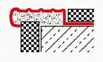 Lépcsőszegély rozsdamentes acél csúszásmentes inox 9-10 mm-es lapokhoz