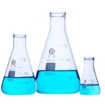 Üveg Erlenmeyer-lombik készlet 3 darabos, laboratóriumi üveg mérőeszköz, háromszög lombik, kúpos üveglombik