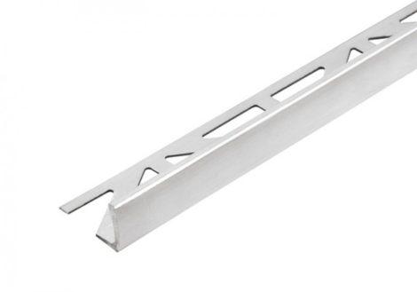 L alakú alumínium csempeszegély élvédő, eloxált alu színben 11 mm-es lapokhozl