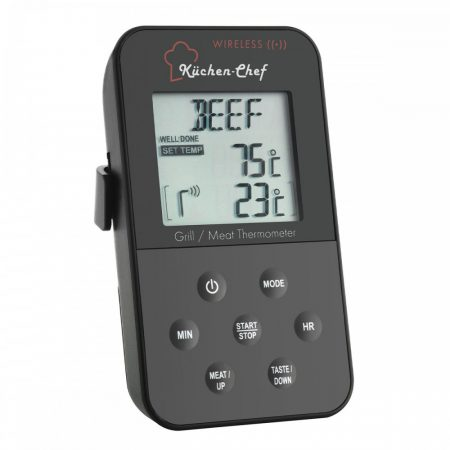 Maghőmérő rádiós sütőhőmérő adó-vevő