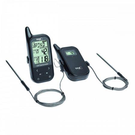 Dupla maghőmérő digitális sütőhőmérő két érzékelővel hordozható rádiós grillhőmérő vevővel