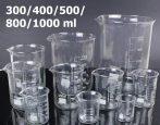 Üveg mérőpohár készlet 5 darabos készlet 300/400/500/800/1000 ml laboratóriumi használatra