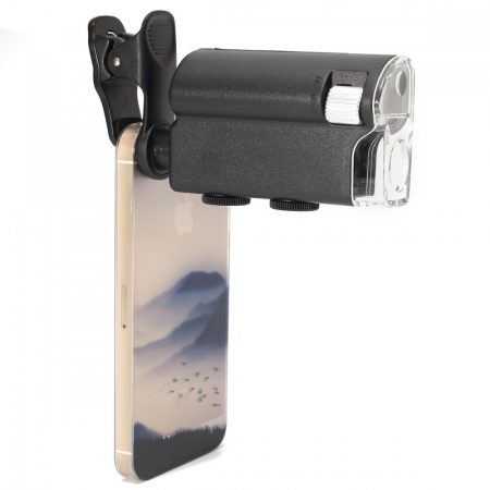 Mikroszkóp telefonra 60X-100X nagyítás. Fehér és UV LED fény