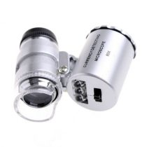 Mikroszkóp pici 60X nagyítás. 3 fehér és egy UV LED segédfény
