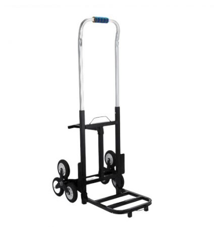 Összecsukható lépcsőnjáró molnárkocsi, 190 kg teherbírás, könnyű alumínium kivitel  Rakodófelület 35