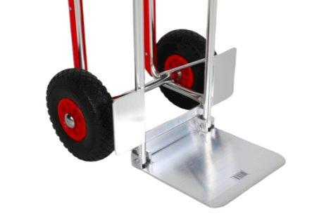 Könnyű alumínium molnárkocsi, felhajtható teherlap 180 kg teherbírás rozsdamentes kivitel