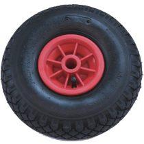 Ø 220 mm molnárkocsi pótkerék, kézikocsi, kiskocsi kerék 2.50-4 átmérő 220 mm fúvott műanyag felni,