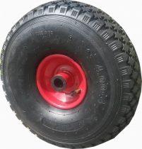 Ø 260 mm molnárkocsi kerék, kézikocsi, kiskocsi pótkerék 4.00-4 átmérő 300 mm fúvott műanyag felni