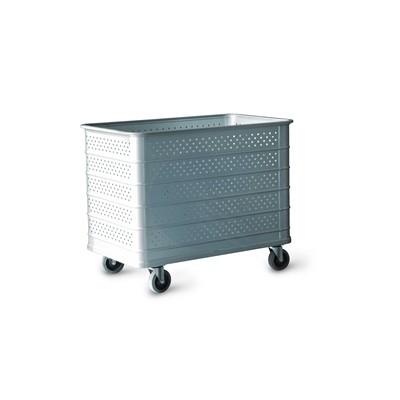 Szállodai- és mosodai kocsi 600 literes, perforált könnyűfémlemezből 1350 x 750 x 850 mm