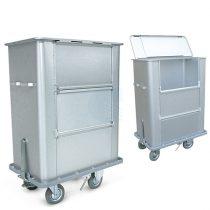 Szállodai- és mosodai kocsi dupla ajtóval 720 literes, könnyűfém lemezből 1090 x 690 x 1350 mm