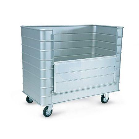 Szállodai- és mosodai kocsi 830 literes, könnyűfém lemezből 1330 x 730 x 1090 mm