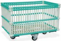 Szállodai- és mosodai kocsi 210 literes, polipropilén mosodai kocsi 830 x 480 x 795 mm