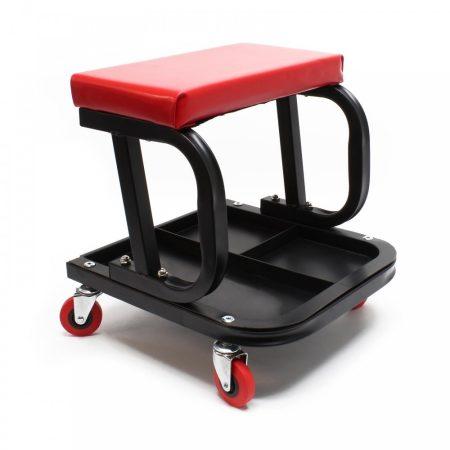 Műhelyszék gurulós ülőke szerszámtartóval 37,5x36x38,5 cm 150 kg teherbírással