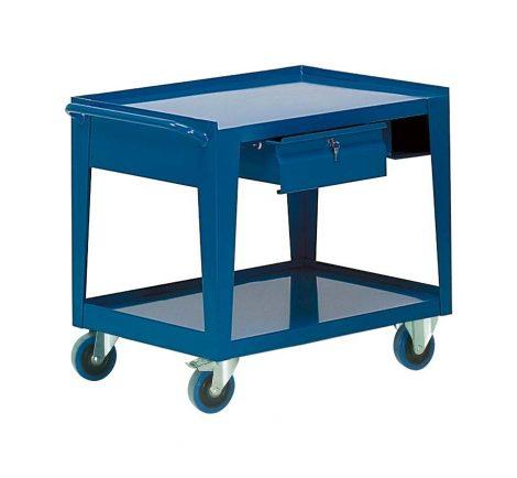 Fiókos gurulós műhelyasztal ipari kivitel kulccsal zárható fiókkal 500 kg teherbírású munkaasztal