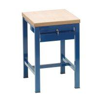 Fiókos műhelyasztal ipari kivitel fa munkalappal, zárható fiókkal 250 kg teherbírású munkaasztal