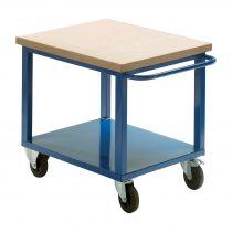 Gurulós műhelyasztal ipari kivitel 50 mm rétegelt lemez munkalap 300 kg teherbírású munkaasztal