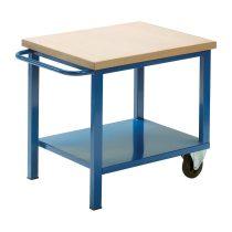 Gurulós műhelyasztal ipari kivitel 50 mm rétegelt lemez munkalap 700 kg teherbírású munkaasztal