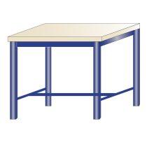 Műhelyasztal ipari kivitel 40 mm rétegelt lemez munkalap 700 kg teherbírású munkaasztal