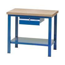 Fiókos műhelyasztal ipari kivitel fa munkalappal, zárható fiókkal 700 kg teherbírású munkaasztal