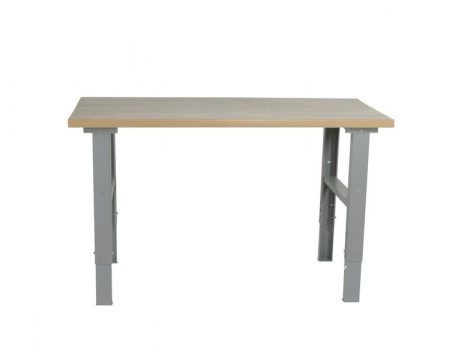 Műhelyasztal ipari kivitel 1600 mm 500 kg teherbírás állítható magasság 740-1100 mm 5 cm asztallap m