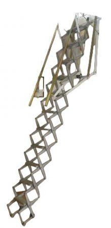 Harmónika padlás feljáró motoros meghajtással 70X90 cm padlás nyílással