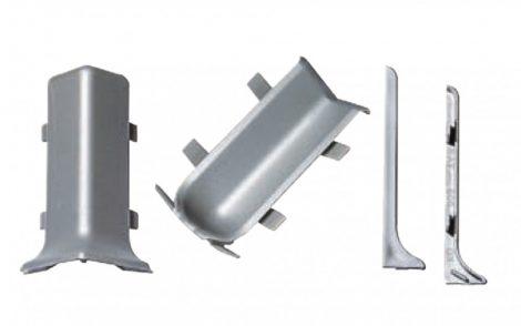 Padlószegély SOFT külső sarok ezüst műanyag