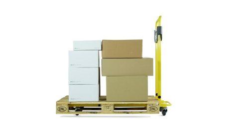 Pallea Basic raklapmozgató zseniálisan egyszerű és nagyszerű 400 kg teherbírás csak 22 kg 1200 mm vi