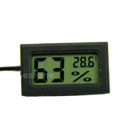 Páratartalom mérő és hőmérő 1,5 méter érzékelő kábellel digitális légnedvesség és hőmérő higrométer