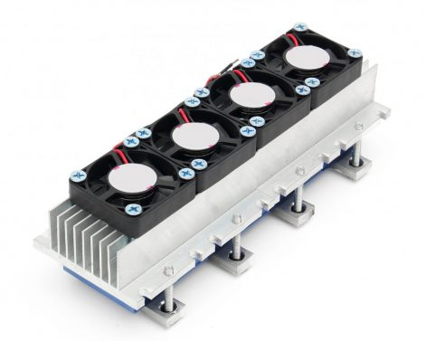 Peltier elemes dupla hűtő készlet 12V 10A   Elem:TEC1-12706 dupla fűtő-hűtő elem