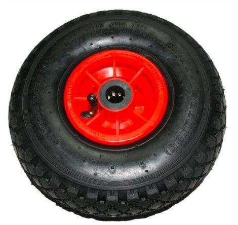 Ø 230 mm Kerék pótkerék molnárkocsi, kézikocsi, kiskocsi 2.50-4 átmérő 230 mm fúvott gumi műanyag
