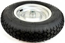 Ø 400 mm gumi kerék pótkerék kézikocsi, kiskocsi 4.00x8 átmérő 400 mm fúvott fém felni