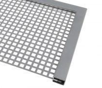 Lemez szegő U profil perforált lemez keret 1,7 mm vastag lemezhez rozsdamentes acél 2500 mm szál