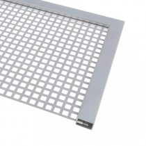 Lemez rács keretező profil lemez keret 1,7 mm vastag lemezig kezeletlen acél 3000 mm