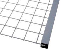 Lemez rács keretező profil lemez keret 40x40 mm 7,5 mm vastag lemezig kezeletlen acél 3000 mm