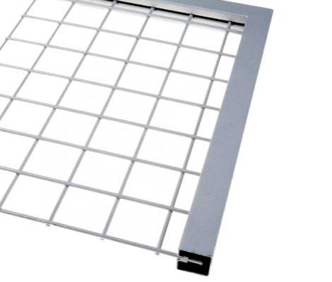 Lemez szegő U profil perforált lemez keret 5,7 mm vastag lemezhez rozsdamentes acél 2500 mm szál