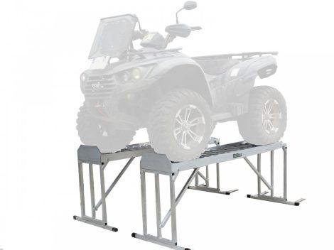 Quad állvány összecsukható emelő platform 2 db 818 kg teherbírású quadokhoz, fűnyíró traktorokhoz